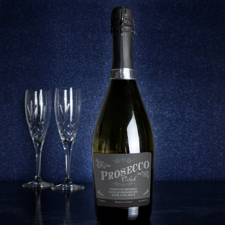 Personalised 'Prosecco O'Clock' Bottle of Prosecco-Prosecco-Give Personalised Gifts