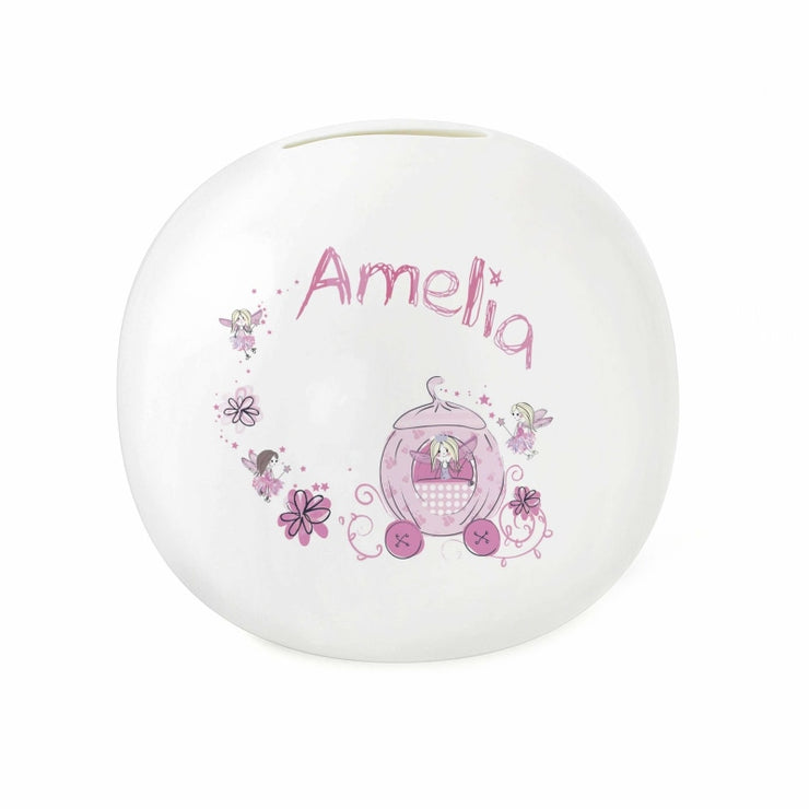 Personalised Pumpkin Fairy Money Box-Money Box-Give Personalised Gifts