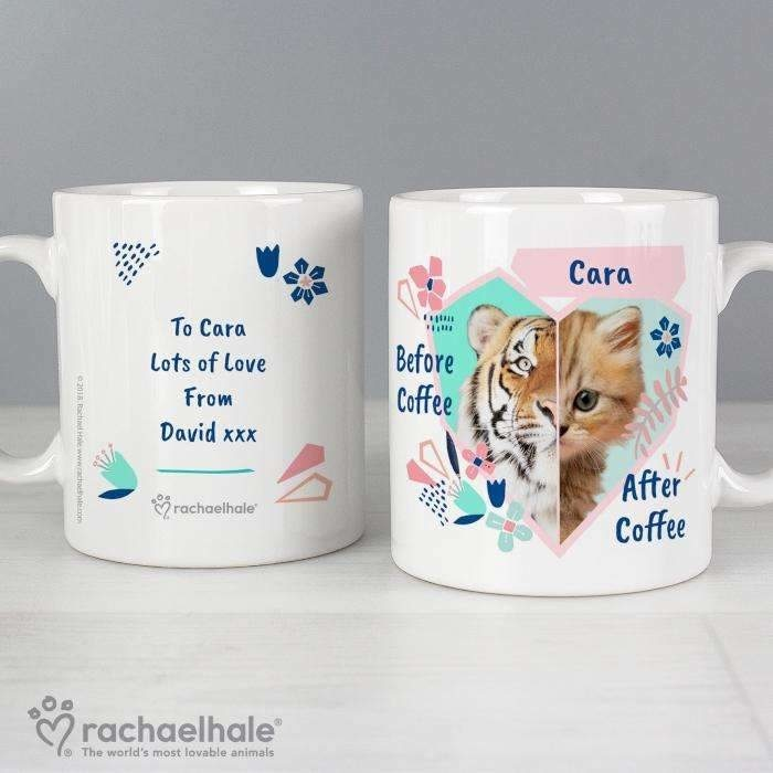 Personalised Rachael Hale 'Before Coffee/After Coffee' Cat Mug-Mugs-Give Personalised Gifts