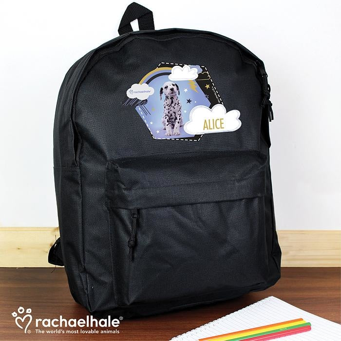 Personalised Rachael Hale Dalmatian Black Backpack-Kids Backpack-Give Personalised Gifts