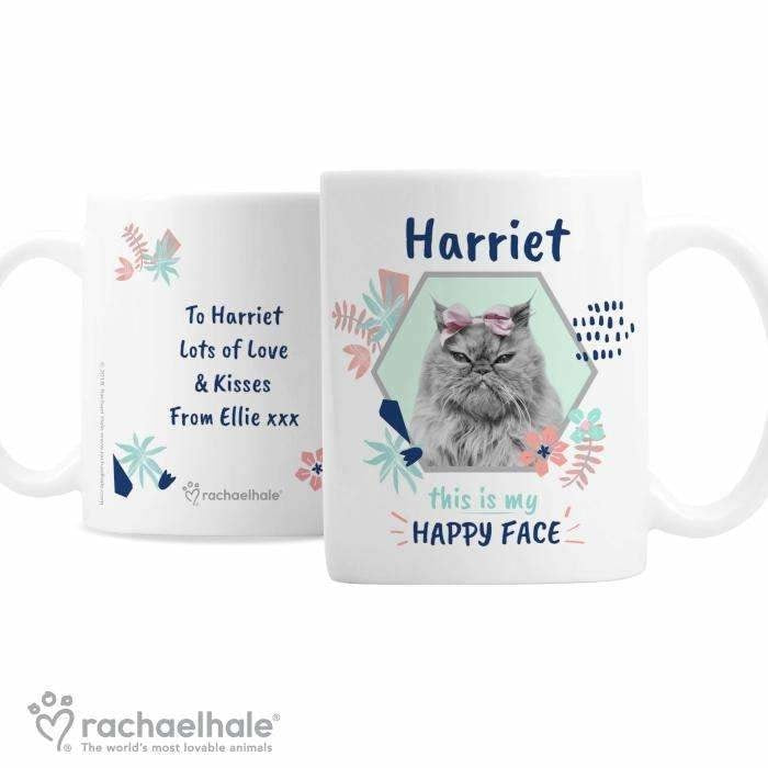 Personalised Rachael Hale 'Happy Face' Cat Mug-Mugs-Give Personalised Gifts