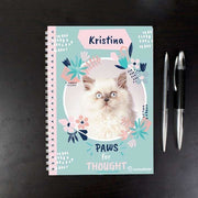 Personalised Rachael Hale 'Paws for Thought' Cat A5 Notebook-Notebook-Give Personalised Gifts