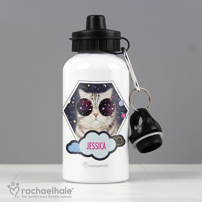 Personalised Rachael Hale Space Cat Drinks Bottle-Drinks Bottle-Give Personalised Gifts