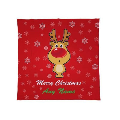 Personalised Rudolph Reindeer - Christmas Fleece Blanket-Blanket-Give Personalised Gifts