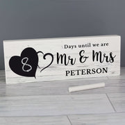 Personalised Rustic Chalk Countdown Wooden Block Sign-Wooden Sign-Give Personalised Gifts