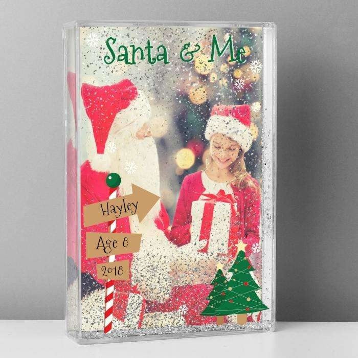 Personalised Santa & Me 6x4 Glitter Shaker Photo Frame-Photo Frame-Give Personalised Gifts
