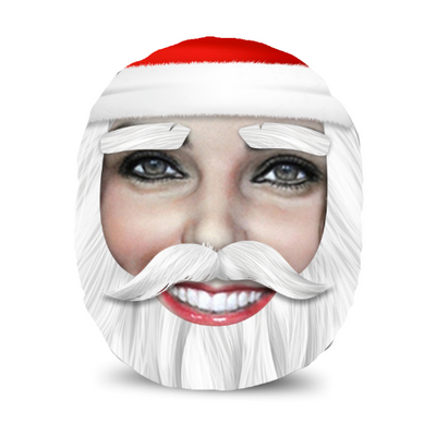 Personalised Santa Photo Face Much Cushion