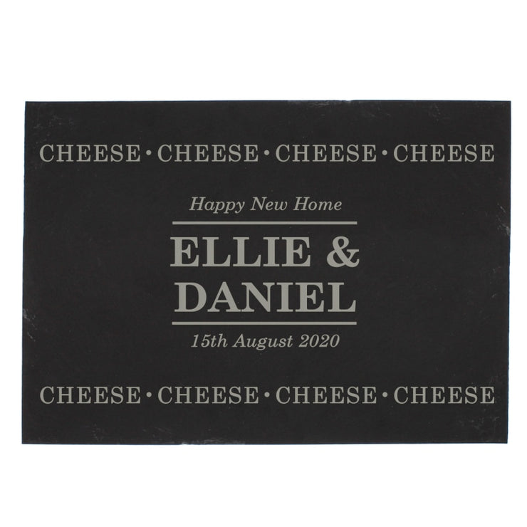 Personalised Slate Cheese Board-Cheeseboard-Give Personalised Gifts