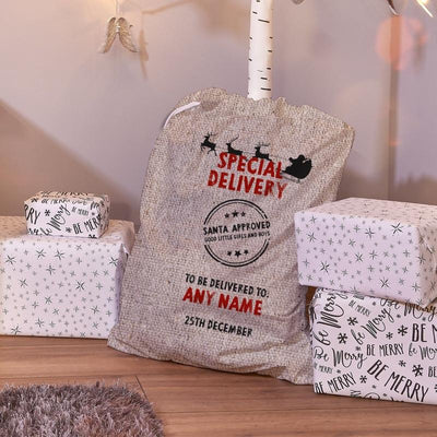 Personalised Special Delivey Santa Sack
