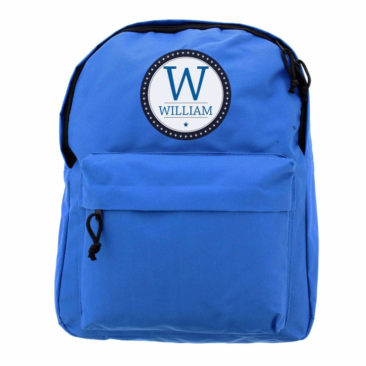 Personalised Star Name Blue Backpack-Kids Backpack-Give Personalised Gifts