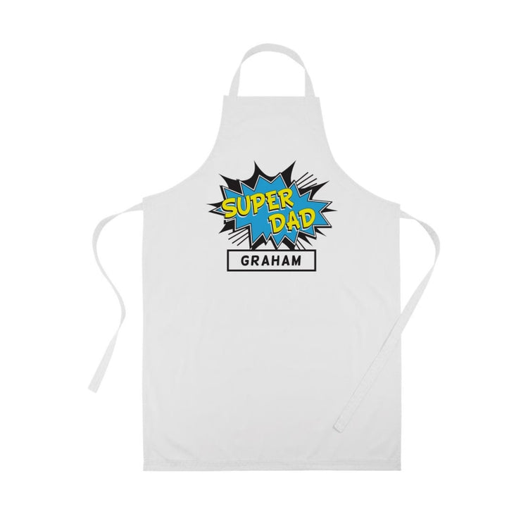 Personalised Super Dad Apron-Apron-Give Personalised Gifts