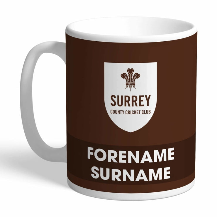Personalised Surrey County Cricket Club Eat Sleep Drink Mug-Mugs-Give Personalised Gifts