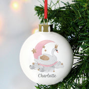 Personalised Swan Lake Christmas Bauble-Bauble-Give Personalised Gifts