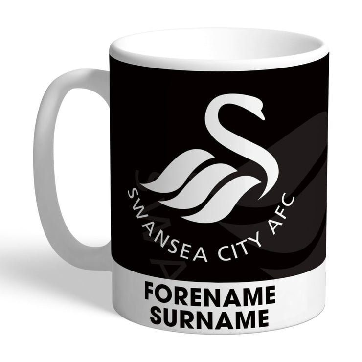 Personalised Swansea City AFC Bold Crest Mug-Mugs-Give Personalised Gifts
