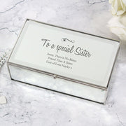 Personalised Swirls & Hearts Mirrored Jewellery Box-Jewellery-Give Personalised Gifts