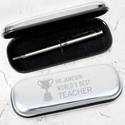 Personalised Teacher Trophy Pen and Box Set-Pen & Pencil Box Set-Give Personalised Gifts