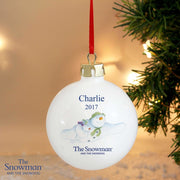 Personalised The Snowman and the Snowdog Flying Bauble-Bauble-Give Personalised Gifts