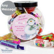 Personalised The Snowman and the Snowdog Pink Sweet Jar-Candles & Holder-Give Personalised Gifts