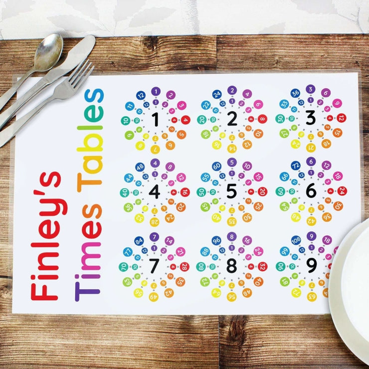 Personalised Times Tables Placemat-Placemat-Give Personalised Gifts