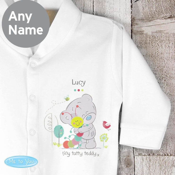 Personalised Tiny Tatty Teddy Cuddle Bug 0-3 months Babygrow-Baby Clothing-Give Personalised Gifts