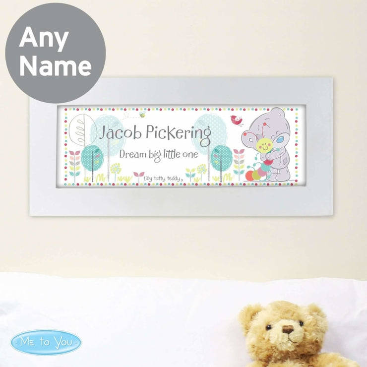 Personalised Tiny Tatty Teddy Cuddle Bug Name Frame-Framed Print-Give Personalised Gifts
