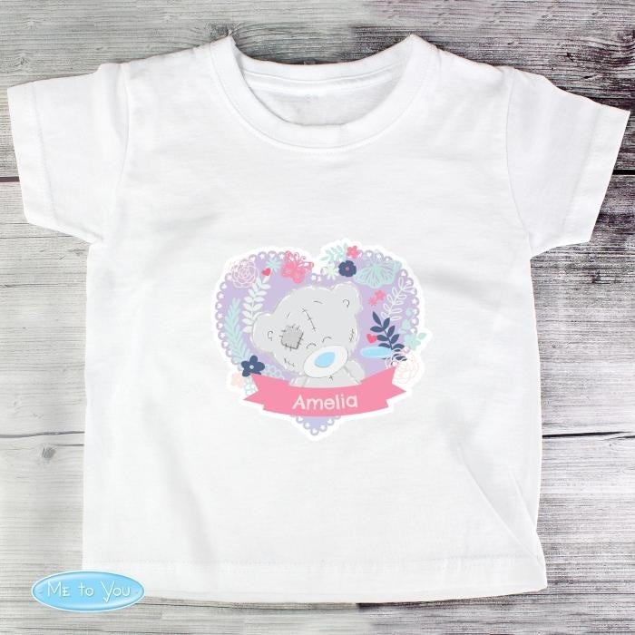 Personalised Tiny Tatty Teddy Girl's T-shirt 3-4 Years-Baby Clothing-Give Personalised Gifts
