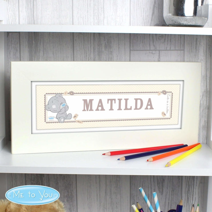 Personalised Tiny Tatty Teddy Name Frame-Personalised Poster-Give Personalised Gifts