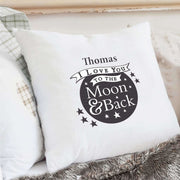 Personalised To the Moon and Back...Cream Cushion Cover-Cushion Cover-Give Personalised Gifts