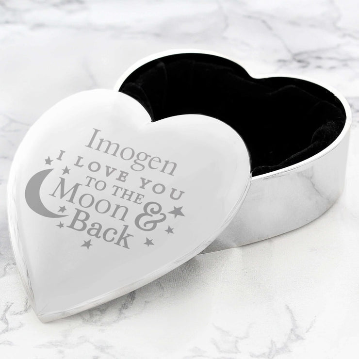 Personalised To the Moon and Back... Heart Trinket Box-Trinket Box-Give Personalised Gifts