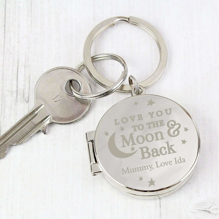 Personalised To the Moon and Back...Photo Keyring-Keyring-Give Personalised Gifts