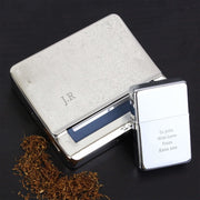 Personalised Tobacco Rolling Tin and Silver Lighter Set-Lighter-Give Personalised Gifts