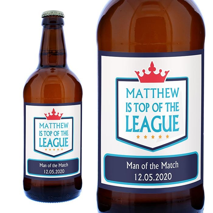 Personalised Top of the League Beer-Beverage & Accessories-Give Personalised Gifts
