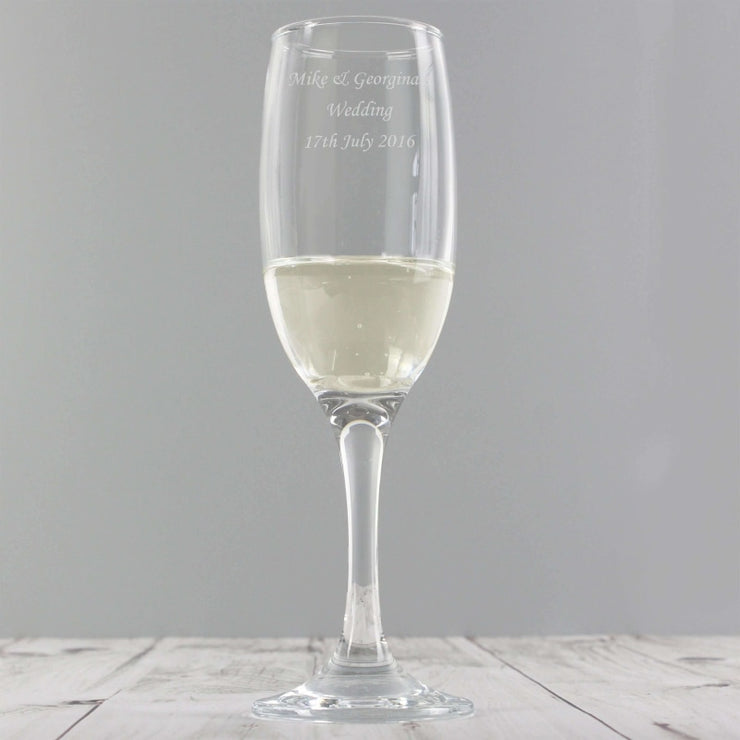 Personalised Traditional Toast Flute-Flute-Give Personalised Gifts