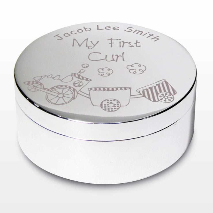 Personalised Train My First Curl Trinket Box-Trinket Box-Give Personalised Gifts