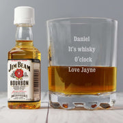 Personalised Tumbler and Jim Beam Miniature Set-Tumbler-Give Personalised Gifts