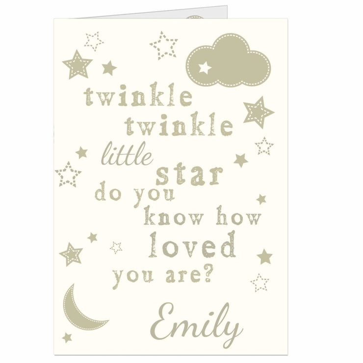 Personalised Twinkle Twinkle Card-Personalised Cards-Give Personalised Gifts