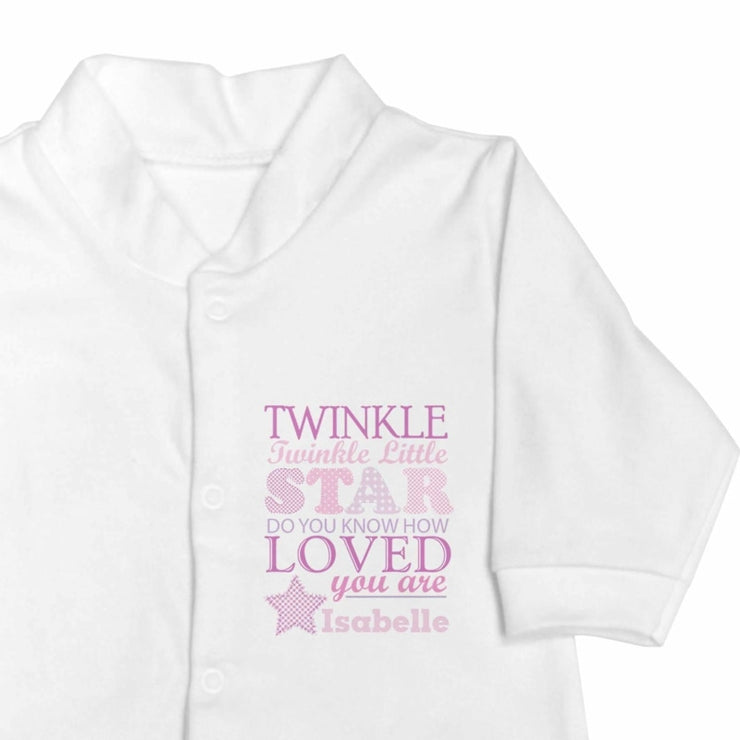 Personalised Twinkle Girls 9-12 Months Babygrow-Baby Clothing-Give Personalised Gifts
