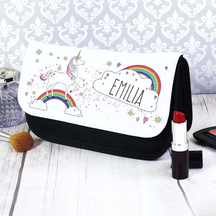 Personalised Unicorn Make Up Bag-Make Up Bag-Give Personalised Gifts