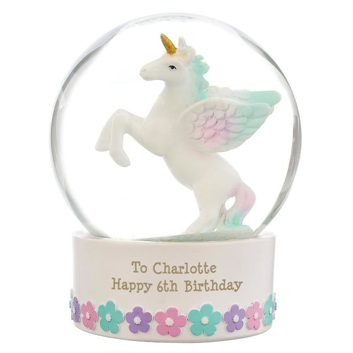 Personalised Unicorn Snow Globe-Snow Globe-Give Personalised Gifts
