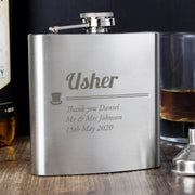 Personalised Usher Hip Flask-Hip Flask-Give Personalised Gifts
