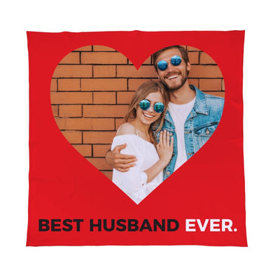 Personalised Valentines Day Best Husband Ever Photo Fleece Blanket Throw-Blanket-Give Personalised Gifts