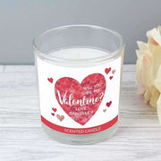 Personalised Valentine's Day Confetti Hearts Scented Jar Candle-Candles & Holder-Give Personalised Gifts