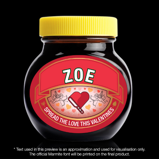 Personalised Valentines Marmite Jar – With Gift Box