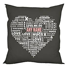 Personalised Valentine's Words Cushion-Cushion Cover-Give Personalised Gifts