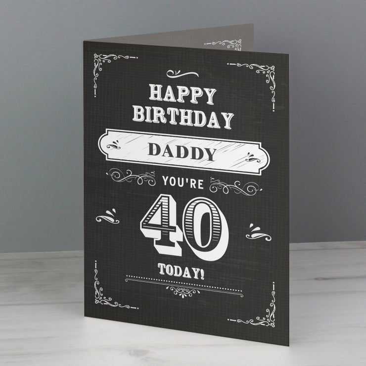 Personalised Vintage Typography Birthday Card-Personalised Cards-Give Personalised Gifts