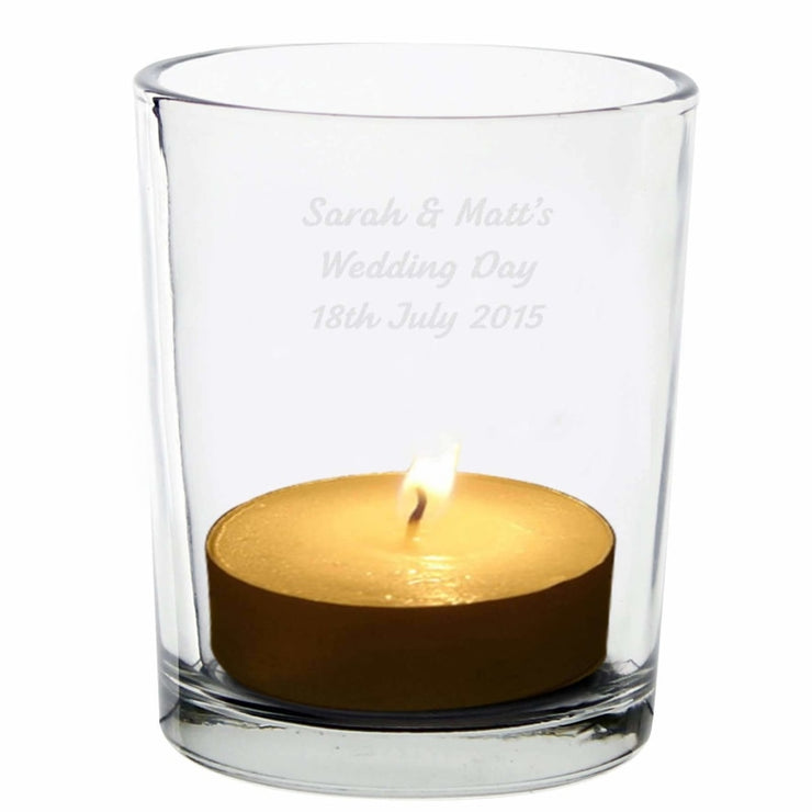 Personalised Votive Candle Holder-Candles & Holder-Give Personalised Gifts