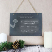 Personalised Waiter Hanging Large Slate Sign-Signs-Give Personalised Gifts