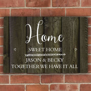 Personalised Walnut Wood Grain Metal Sign-Home Accessories-Give Personalised Gifts