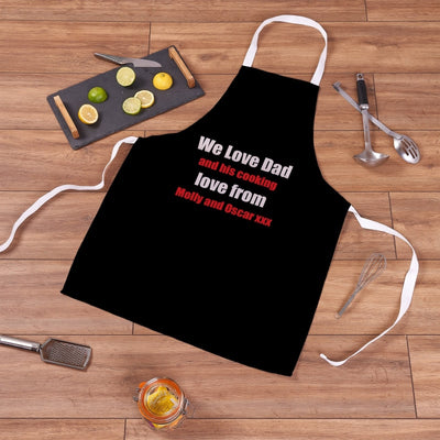 Personalised We Love Dad Apron