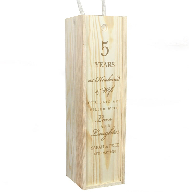 Personalised Wedding Anniversary Bottle Presentation Box-Gift Box-Give Personalised Gifts